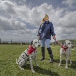 Jacket canvas navy walking dogs smock