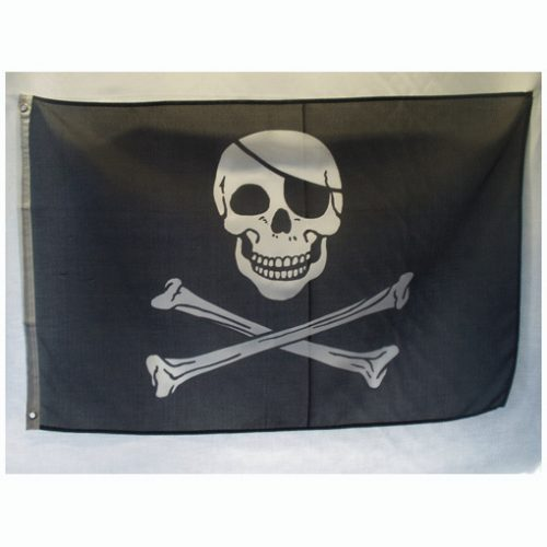 Large pirate flags skull and cross bones