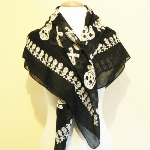large pirate cotten scarf