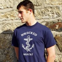 wrecked again tshirt
