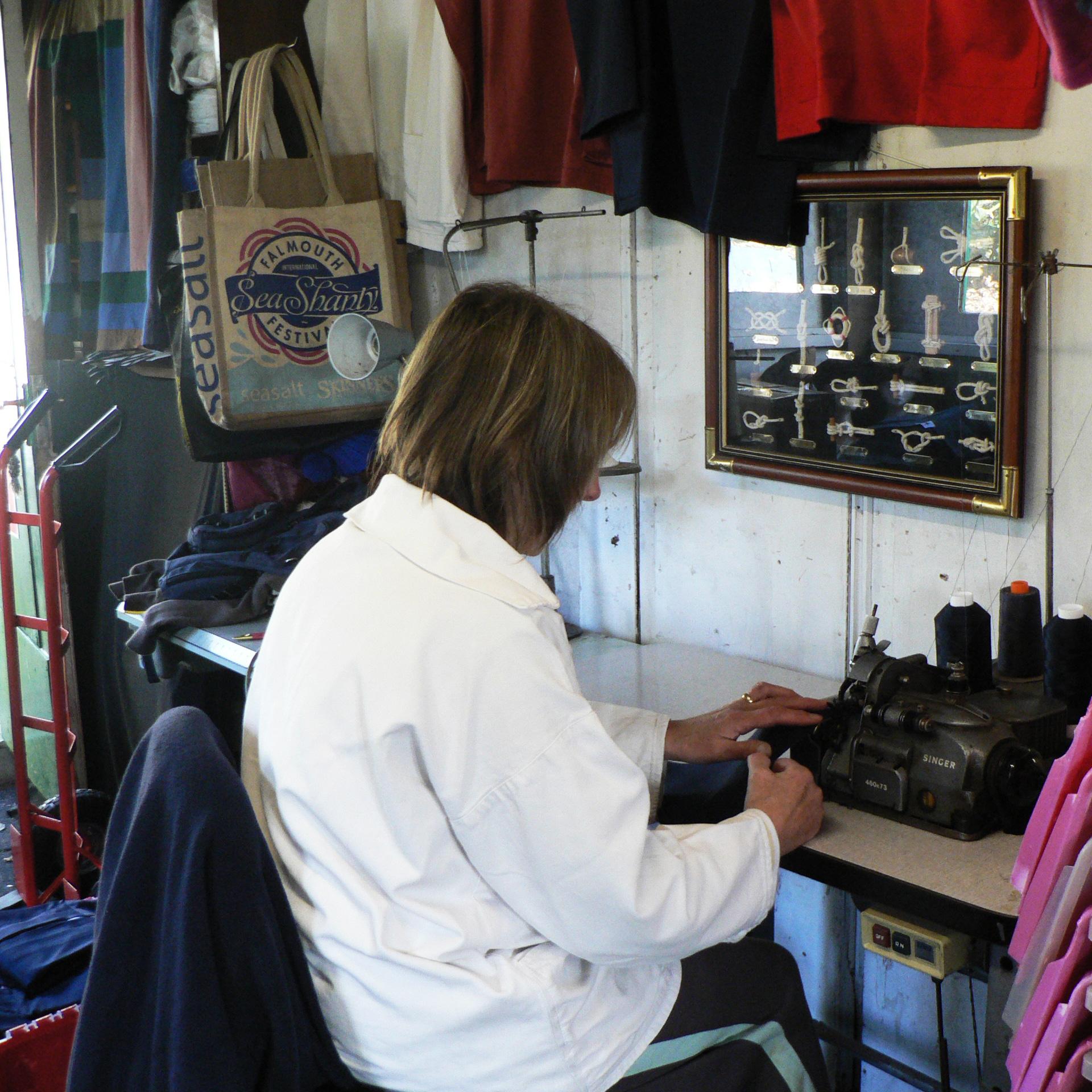 Hand made in Cornwall making smocks