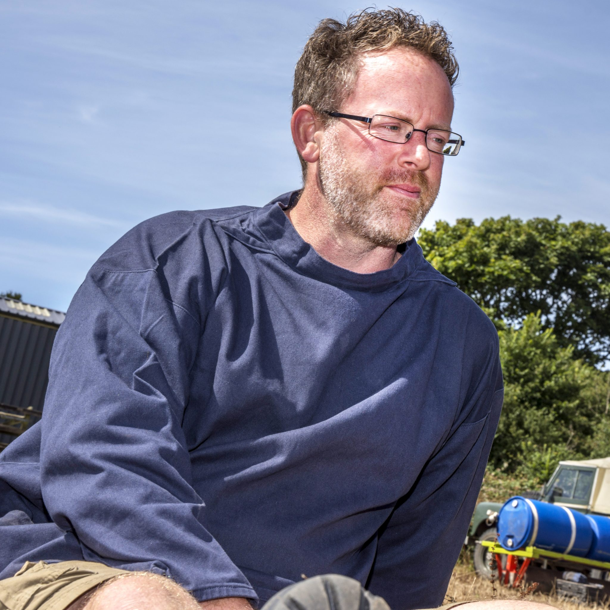 crew-neck-navy-smock Cornish smock