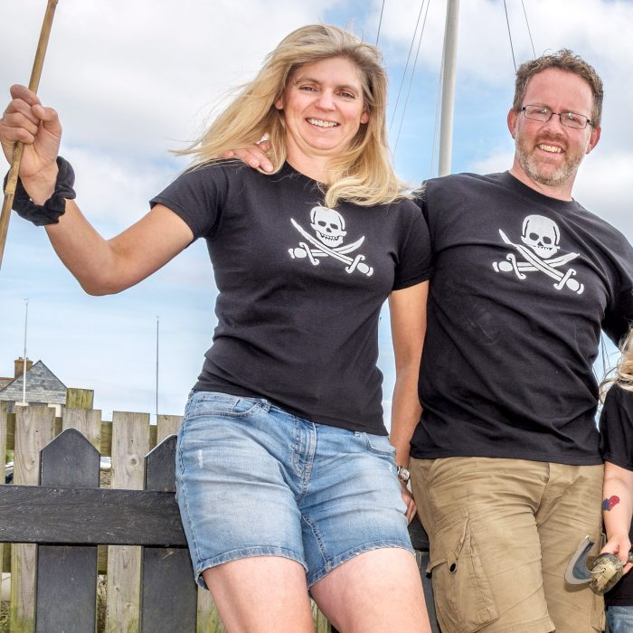 Adult pirate T shirts and kids pirate t shirts cornwall