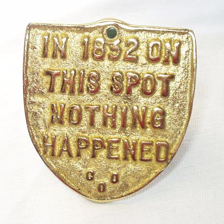 On this spot brass-shield
