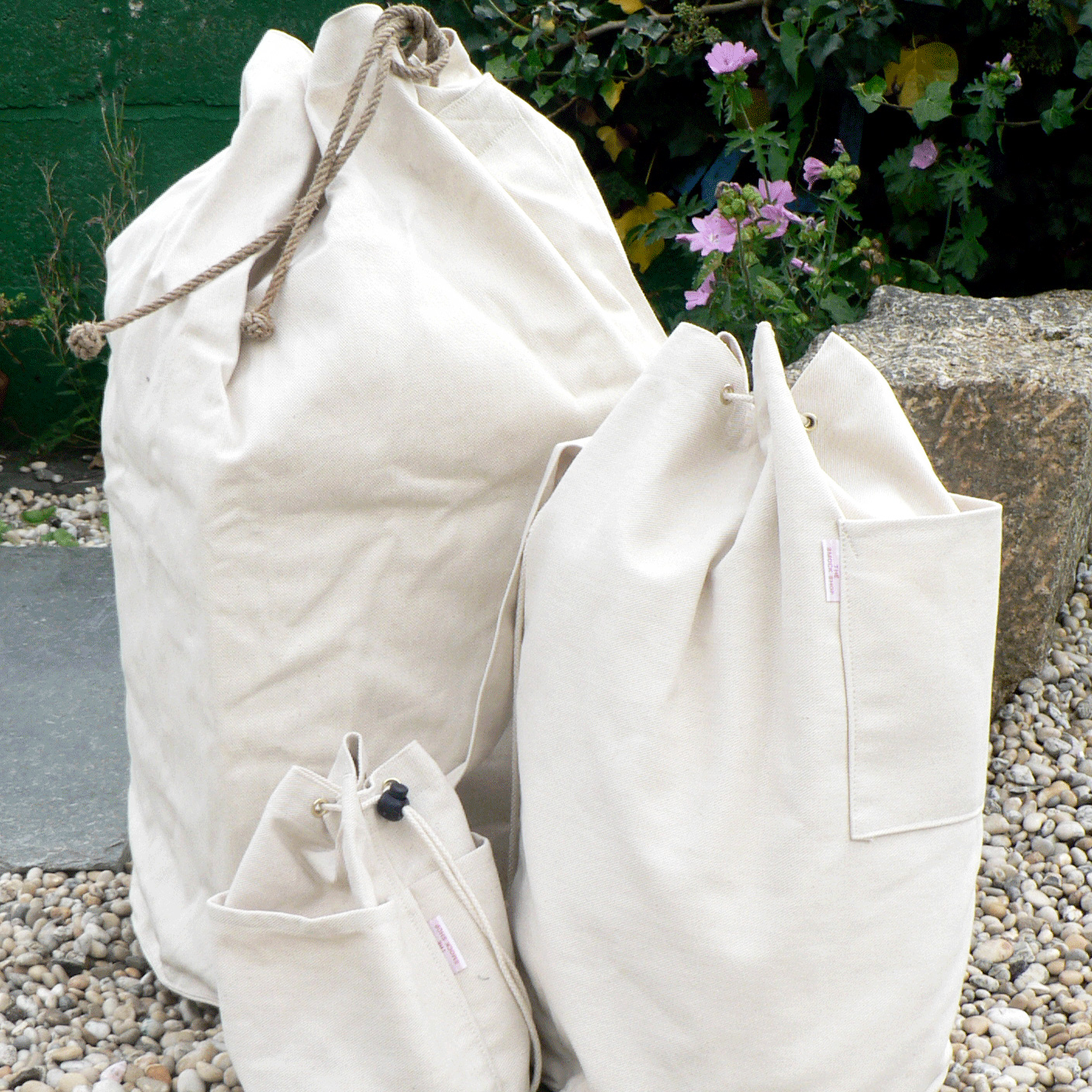 duffle bags Natural canvas bags