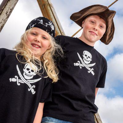 Adult pirate T shirts and kids pirate t shirts pirate t shirt. Tricorn pirate hat.