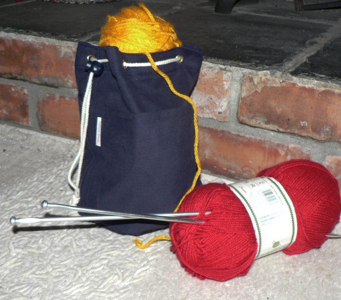 Canvas ditty bag , knitting, wash bag, fishing bits ect;