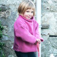 pink fleece smock