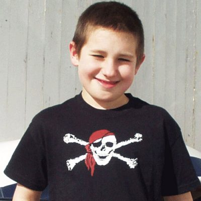 pirate tshirt red bandanna pirate t shirt. Happy face pirate