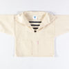 Natural Childs smock with stripe inset
